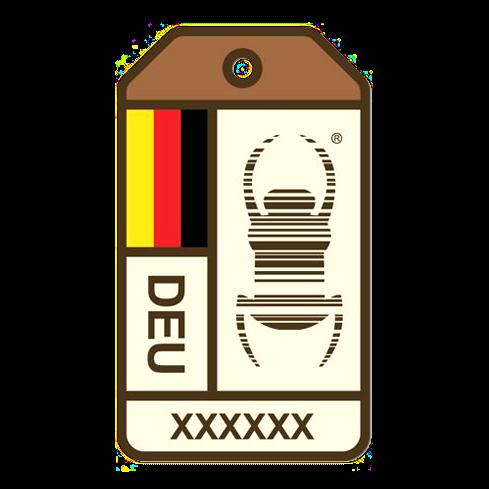 Travel Bug® Origin Aufkleber, Deutschland
