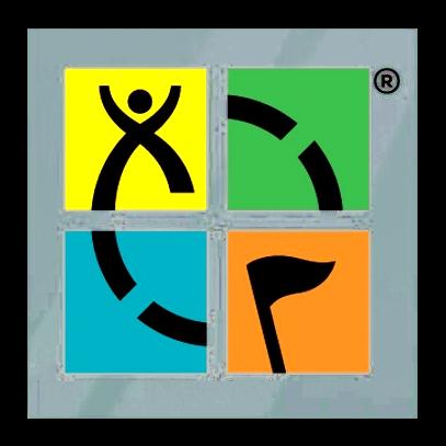 Geocaching-Logo Statik-Folie, 4-farbig