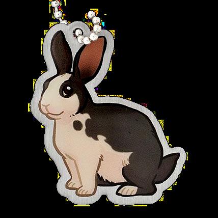 Niblet the Rabbit, Kaninchen Travel Tag