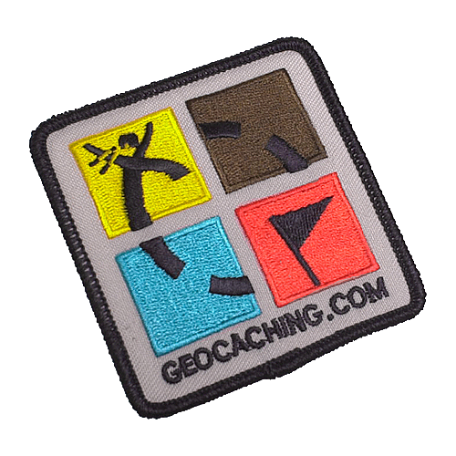 Patch Geocaching Logo vierfarbig