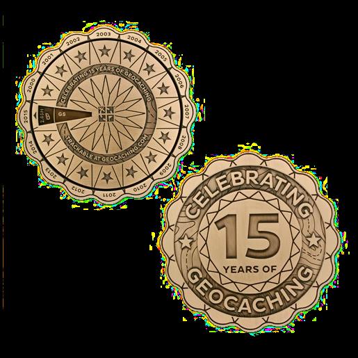 15 Jahre Geocaching, Spinner Geocoin