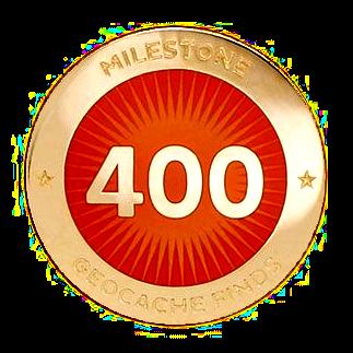Milestone Pin - 400 Finds