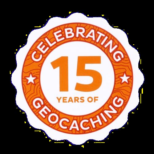 15 Jahre Geocaching, Aufkleber