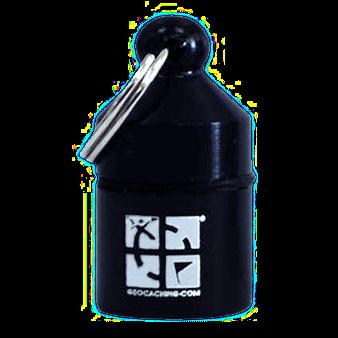 Groundspeak Nano-Cache, schwarz, hängend