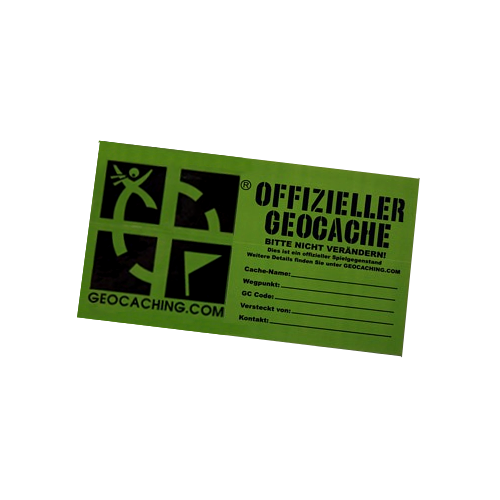 Groundspeak Sticker medium deutsch