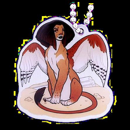 Hidden Creatures Travel Tag, Sphinx