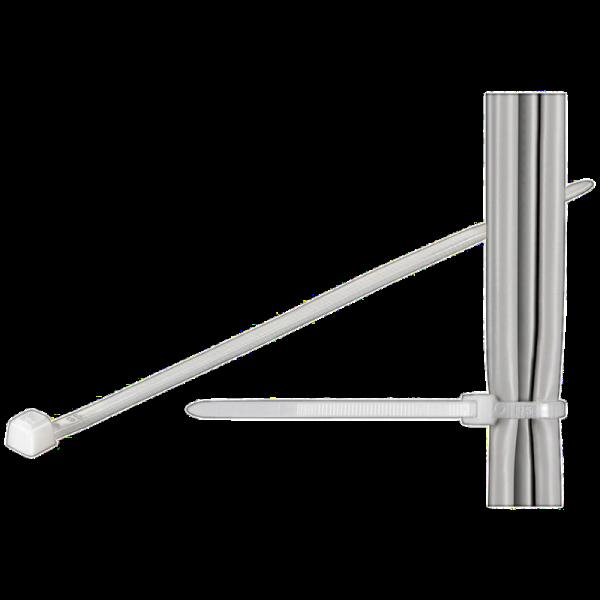 Nylon Kabelbinder weiß, 10 Stück, 280 x 4,8 mm