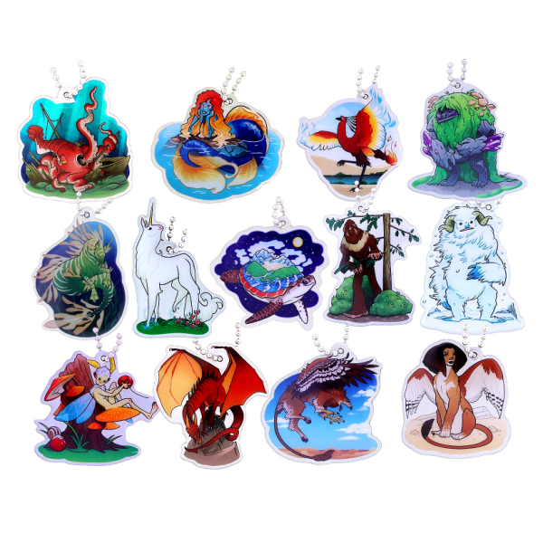 13 Hidden Creatures, Travel Tag Set