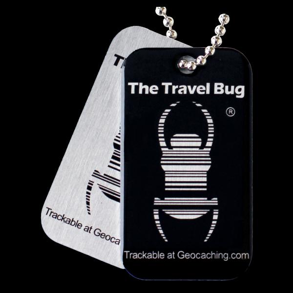 QR-Travel Bug®, Schwarz, nachleuchtend