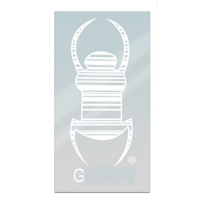 Travel Bug® Aufkleber 7,5 cm, weiß