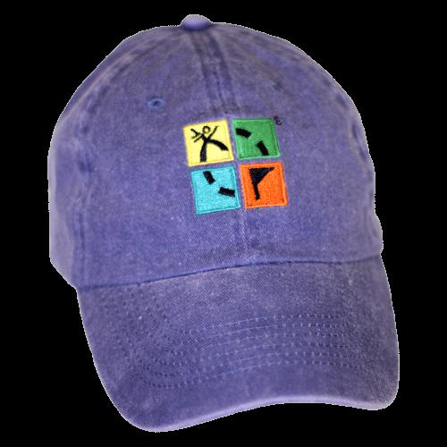 Logo hat jeansblau
