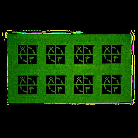 Geocaching Mini-Sticker, schwarz-grün, 8-er Pack