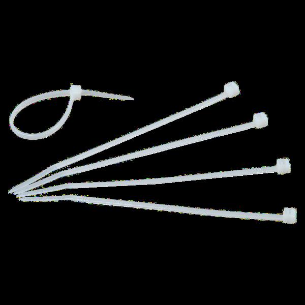 Nylon Kabelbinder weiß, 10 Stück, 200 x 3,6 mm
