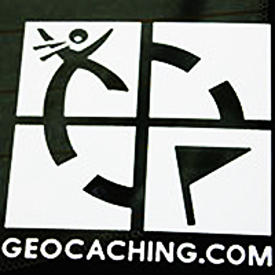 Sticker Geocaching Logo gestanzt