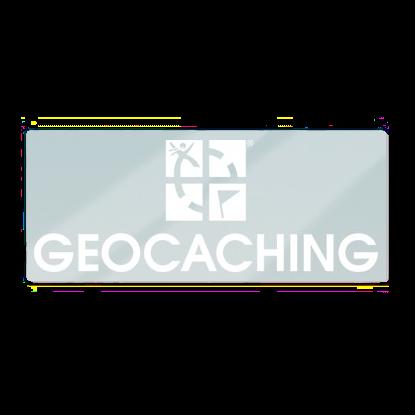 """Geocaching """"Schriftzug+Logo"""" Statik-Folie"""