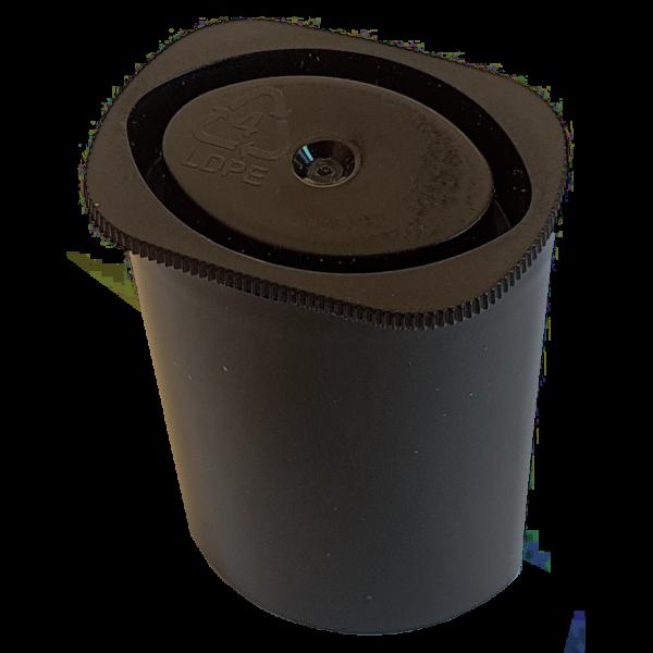 "Mikro-Behälter ""Filmdose oval"", schwarz"