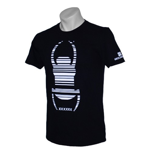 "Groundspeak, ""Travel Bug®"", Trackable T-Shirt, Schwarz,"
