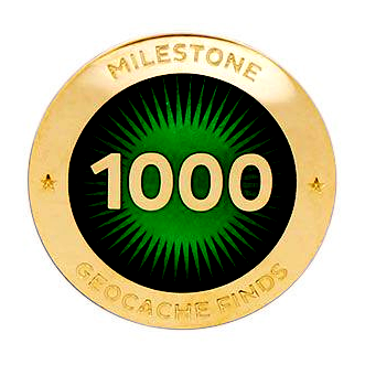 Milestone Pin - 1000 Finds
