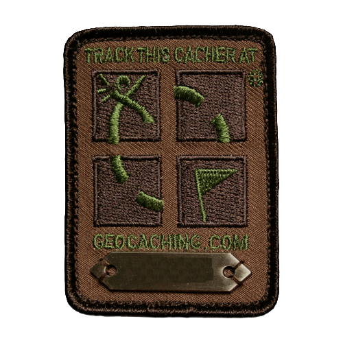 Patch trackable Geocaching Logo camo