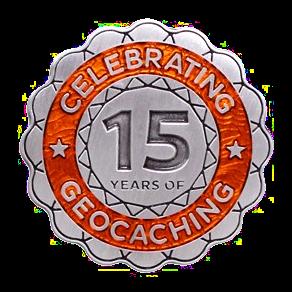 """""""15 Jahre Geocaching"""", Geocoin"""