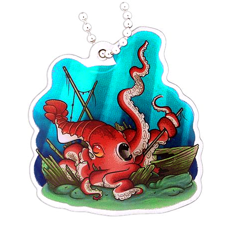 Hidden Creatures Travel Tag, Kraken