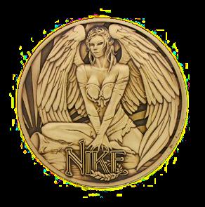 "Griechische Götter Geocoin, ""Nike"""