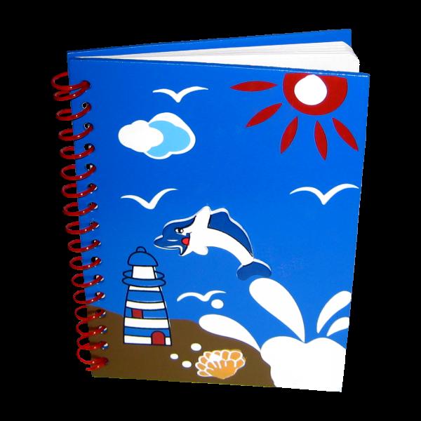 Logbuch mit Aplikation blau