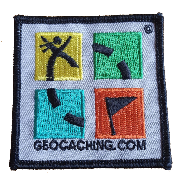 Geocaching Patch, 4-farbig, klein